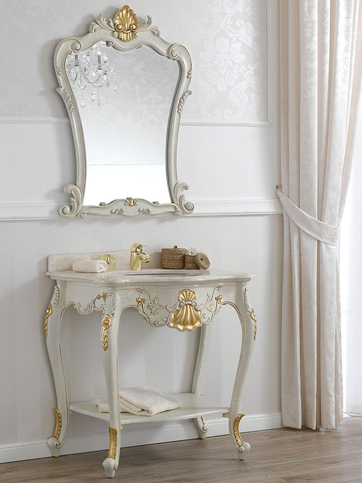 console meuble salle de bain avec miroir eleonor style. Black Bedroom Furniture Sets. Home Design Ideas