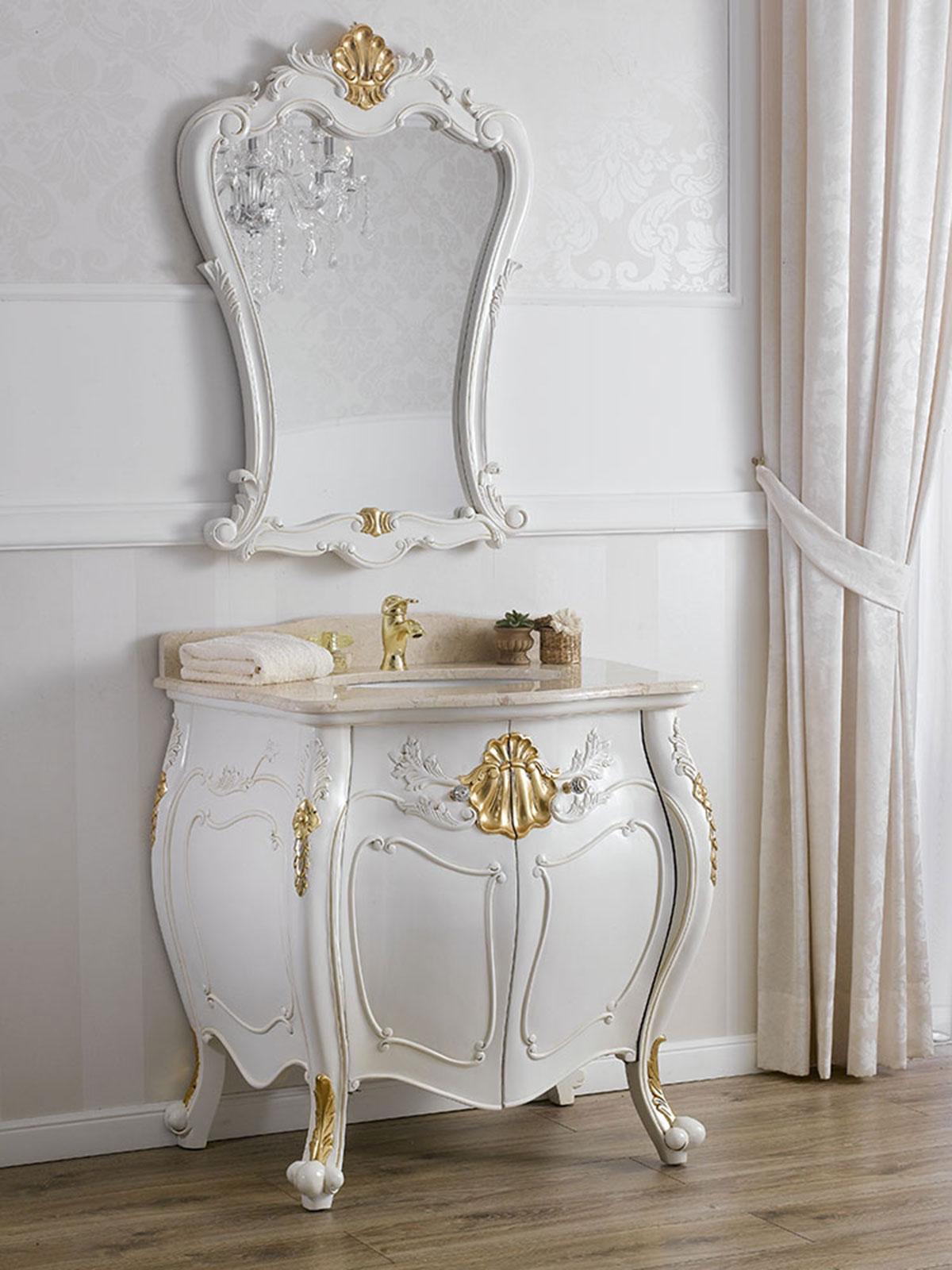 meuble salle de bain avec miroir anderson style baroque. Black Bedroom Furniture Sets. Home Design Ideas